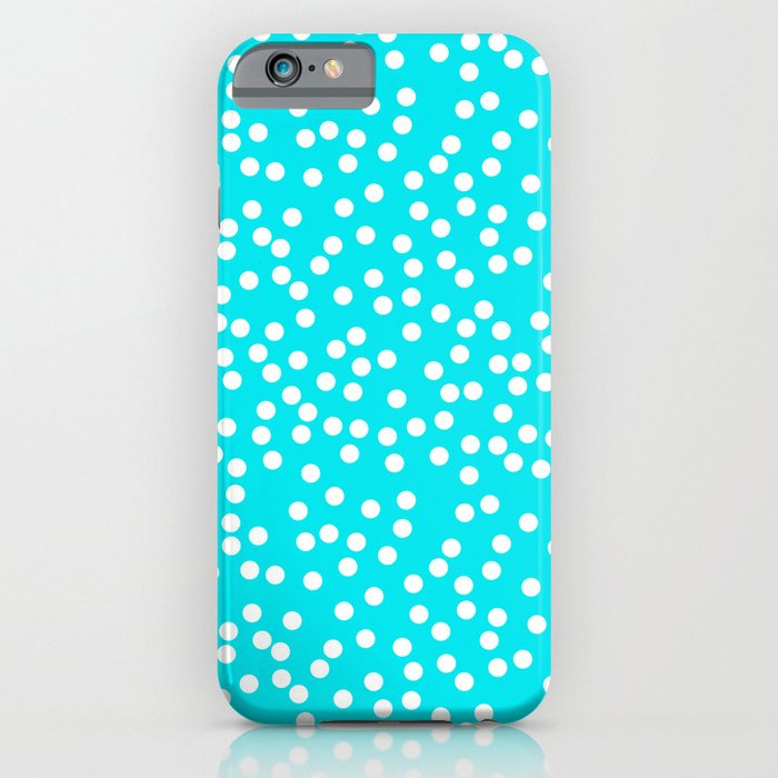 ... Teal Turquoise White Polka Dot Pattern Swiss Dots Texture Stock
