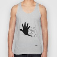 Rabbit Hand Shadow Unisex Tank Top