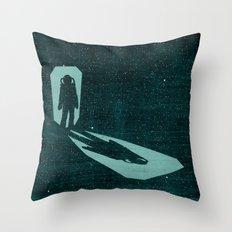 A door through space Throw Pillow