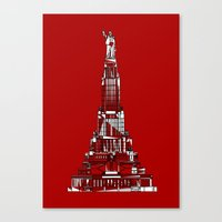 Palace of the Soviets for the 2013 Soyuz Symposium Canvas Print