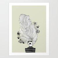 Hair Overload Art Print