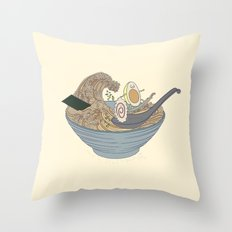 THE GREAT SLURP Throw Pillow