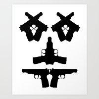 Pistol Face Art Print