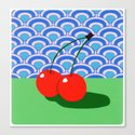 Fruit with Wallpaper (cherry) Canvas Print