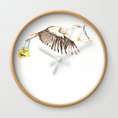 Baby on Bird Wall Clock