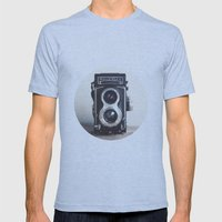 ROLLEIFLEX CAMERA Mens Fitted Tee Athletic Blue SMALL