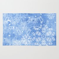 Abstract Snow Flakes On … Rug