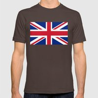 Union Jack Authentic color and scale 3:5 Version  Mens Fitted Tee Brown SMALL