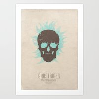 Ghost Rider : Spirit of Vengeance - minimal poster Art Print