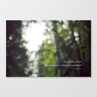 Confucius Say: Life Is S… Canvas Print