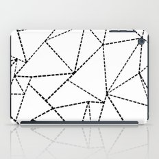 Abstract Dotted Lines Black and White iPad Case