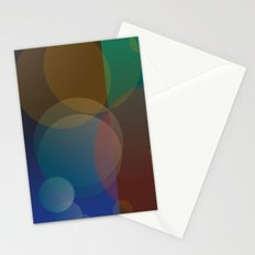 Interaction of Bubbles - Abstract Poster Design Stationery Cards