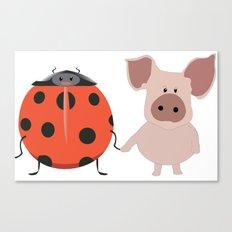Lady Pig Love Canvas Print