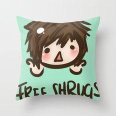 'Free Shrugs' Throw Pillow
