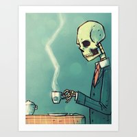 Calavera´s Tea Art Print