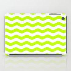 Wavy Stripes (Lime/White) iPad Case
