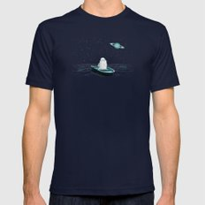 A Space Odyssey Mens Fitted Tee Navy SMALL