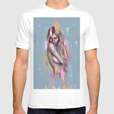 Farba White SMALL Mens Fitted Tee