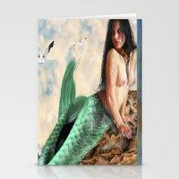 Sea Siren, Nude Mermaid … Stationery Cards