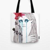 Painted Eyes Tote Bag