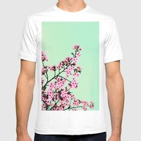 GREEN HONEY Mens Fitted Tee White SMALL