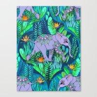 Little Elephant on a Jungle Adventure Canvas Print
