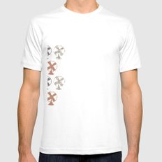 fans pattern White Mens Fitted Tee SMALL