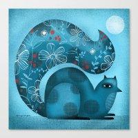 BLUE SQUIRREL Canvas Print