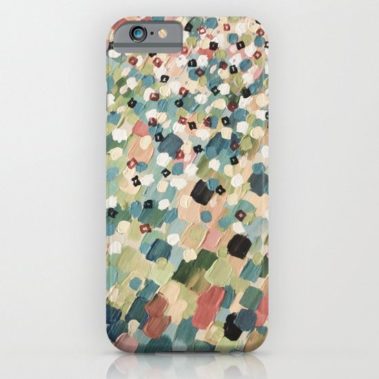 SWEPT AWAY 4 - Lovely Shabby Chic Soft Pink Ocean Waves Mermaid Splash Abstract Acrylic Painting iPhone & iPod Case