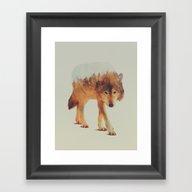 Wolf In The Woods #2 Framed Art Print