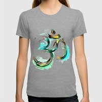 Ohm Womens Fitted Tee Tri-Grey SMALL