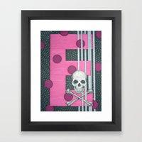 Skull E Framed Art Print