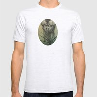 Skull Mens Fitted Tee Ash Grey SMALL