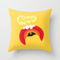 Ahhhhhh! Throw Pillow