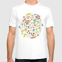 Autumn Blooms Mens Fitted Tee White SMALL