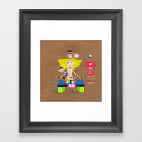 Dogs are a happy family ❤️ Framed Art Print