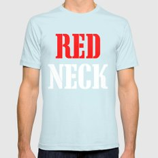 RED NECK Mens Fitted Tee Light Blue SMALL