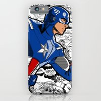 iPhone & iPod Case featuring Captain 'merica Comic by C Rhodes Design