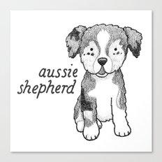Dog Breeds: Australian Shepherd Canvas Print
