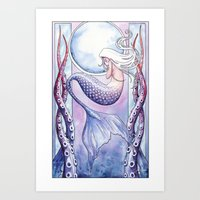Deep Sea Mermaid Art Print