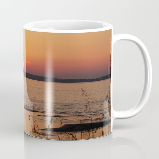 Grasses, backlit by the sea Mug