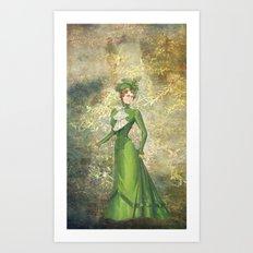 Old Fashioned Lady Art Print