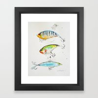 Fishing Is Fly No2 Framed Art Print