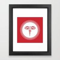 Swayambhu Eyes Framed Art Print