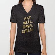 Eat Well Travel Often On… Unisex V-Neck