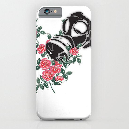 smell the roses - gas mask iPhone & iPod Case
