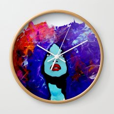 afro color Wall Clock