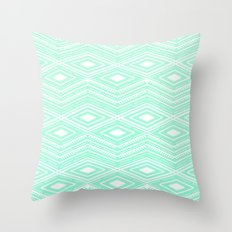 Hipster Mint Green Arrow… Throw Pillow