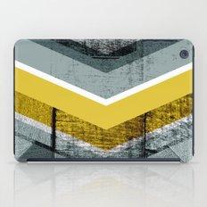 Grey & Yellow Chevron iPad Case