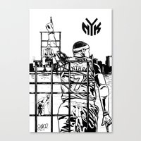Knicks Liberty Canvas Print